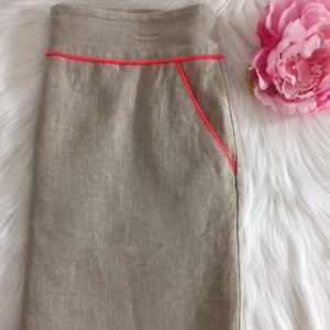 LOFT Mini Women Skirt Size 4 / Linen